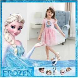FROZEN Queen Elsa Enchanting Snow Dress (Pink)