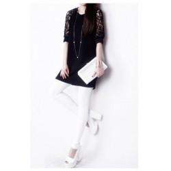Korean strapless lace short-sleeved dress