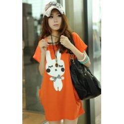 korea large size  blouse  (Orange)