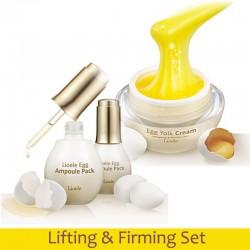 Set: Lioele Egg Yolk Cream & Ampoule Mask