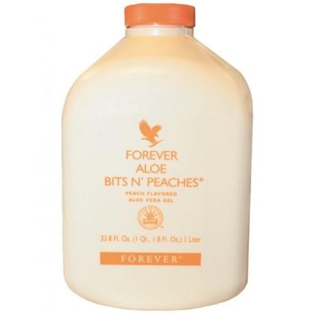 Forever Living Aloe Vera Bits N' Peaches 1 X 1L