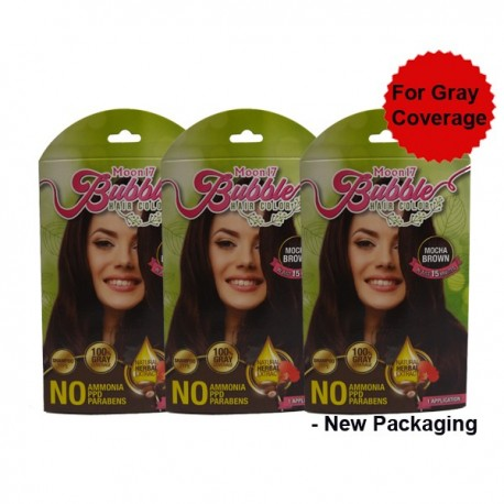 Moon17 Bubble Hair Colour ( Dark Cocoa)  - 3 packs