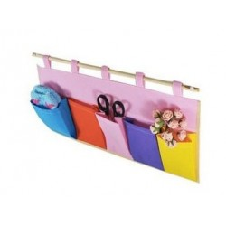 Non Woven colourful multi pocket hanging bag