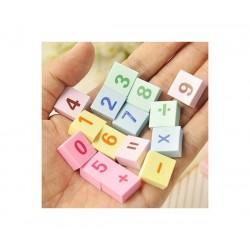 mathematic alphabet eraser
