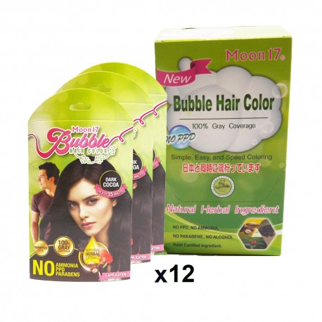 Moon17 Bubble Hair Color (maple red) 12packs - free hair mist 150ml