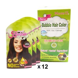 Moon17 Bubble Hair Color ( 12 packs) - Mocha Brown ( with free gift)