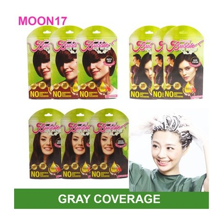Moon17 Bubble Hair Color ( 3packs) - Amber Brown